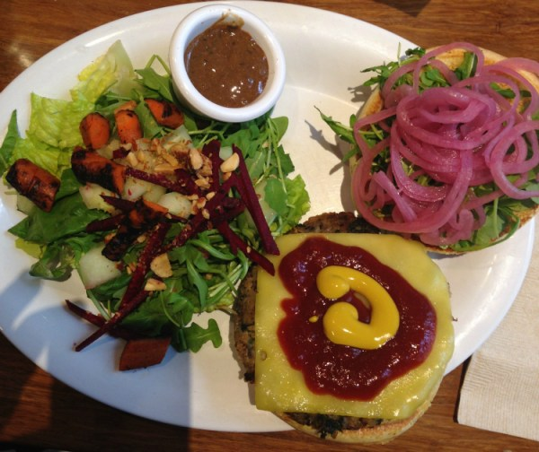 burger from veggie grill