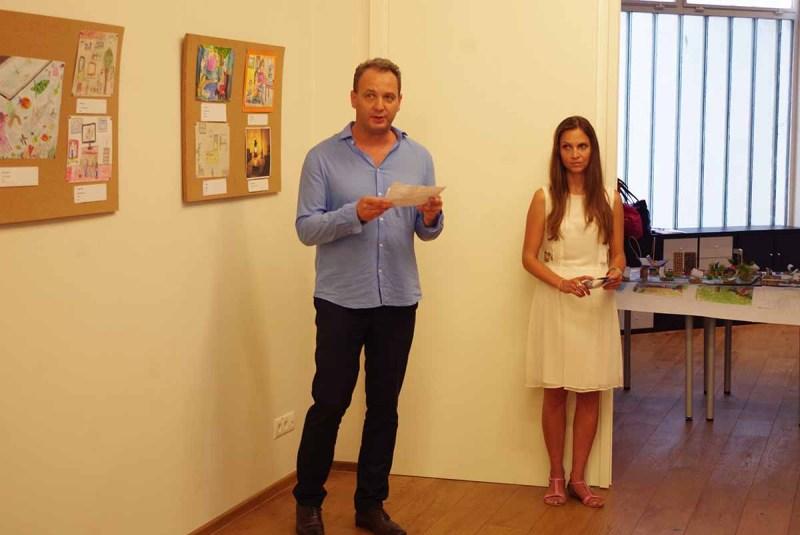 Császár Miklós beszéde a kiállítás megnyitóján - a szerző fotója