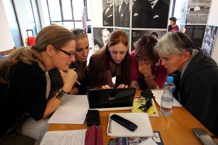 2012.10.06-07., Pécs. Centropa-szeminárium a Zsolnay negyedben. Fotó: Kovács Bence