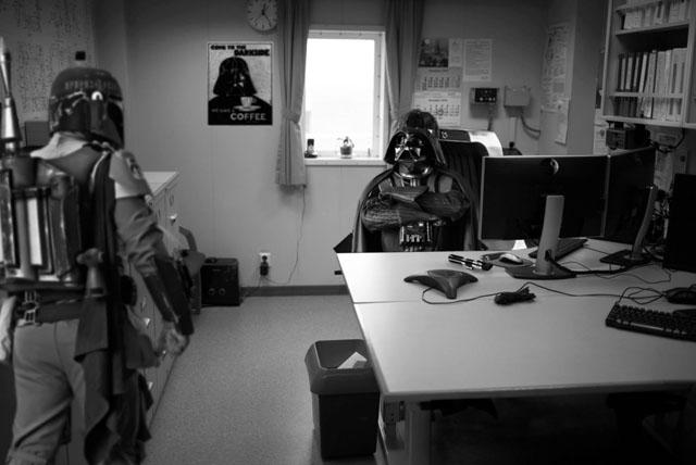 Darth Vader irodája - a kép forrása: Petapixel