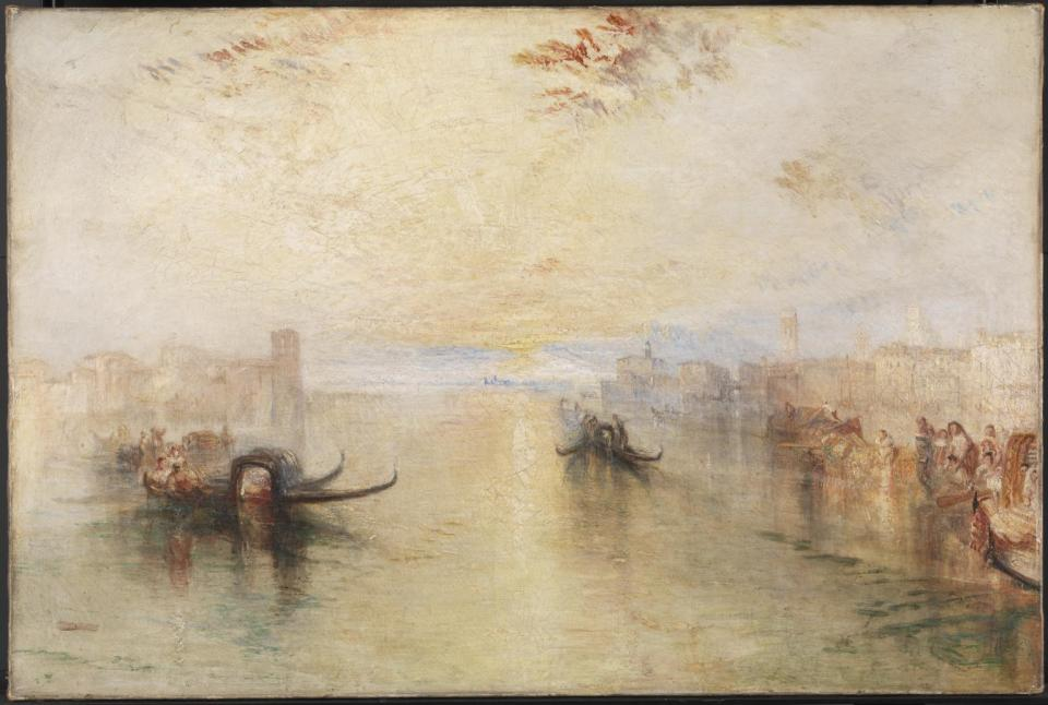 St Benedetto, Looking towards Fusina exhibited 1843 Joseph Mallord William Turner 1775-1851 Accepted by the nation as part of the Turner Bequest 1856 http://www.tate.org.uk/art/work/N00534