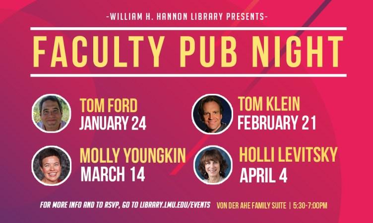 Faculty pub night spring speaker series