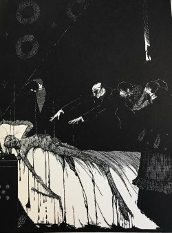 """Illustration from Poe's """"The Oblong Box"""""""