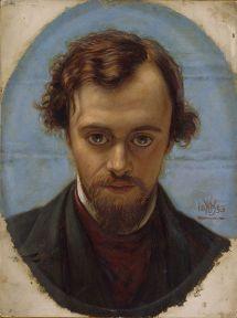 Retrato de Dante Rossetti por William Holman Hunt