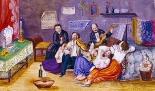 Misa del Niño. Autor probable: Juan Agustín Guerrero, pintor y músico ecuatoriano. Quito, s. XIX.
