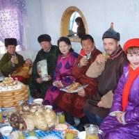 Mongolians on Tsagaan sar