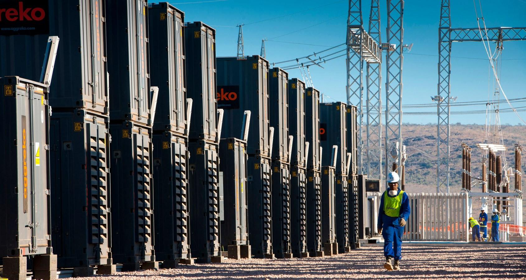 Aggreko - The Gas Fired 175MW Ressano Garcia power plant in Mozambique.
