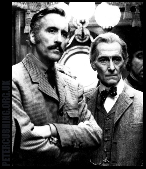 PETER CUSHING CHRISTOPHER LEE