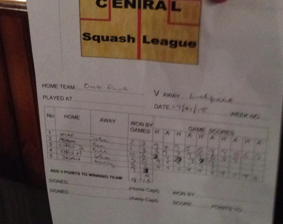 Oak Park away score sheet 070115