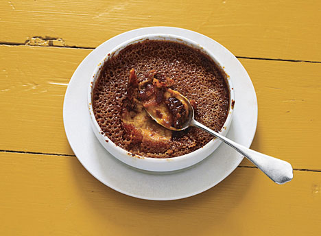 Pumpkin and Brown-Sugar Crème Brûlée, Photo Credit: Tim Morris, Bon Appetit