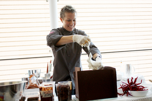 Chef Elizabeth Falkner gets sticky