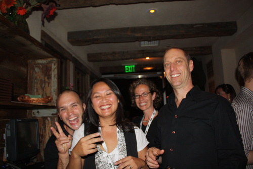 Party time: Todd Porter, Diane Cu and David Lebovitz