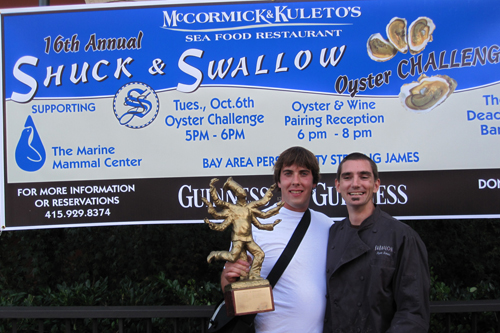 Reigning Champs 2 years in a row: Aaron Young and Ryan Seamus (Team Farallon)