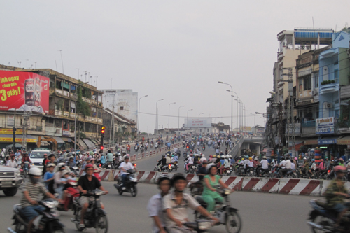 Saigon Motorbike Ebb and Flow