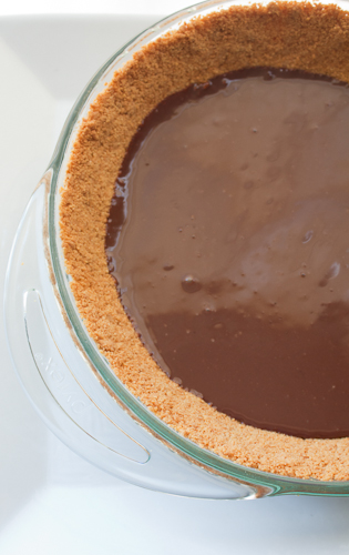 Chocolate coated graham cracker crust
