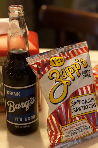 Barq's and Zapp's chips