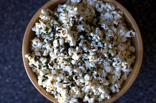 Kale-Dusted Popcorn