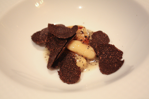 The French Laundry gnocchi with truffles
