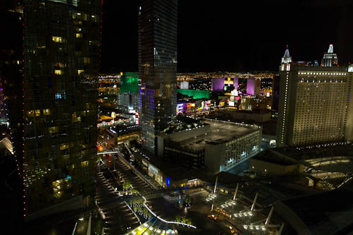 View from my sweet suite at ARIA