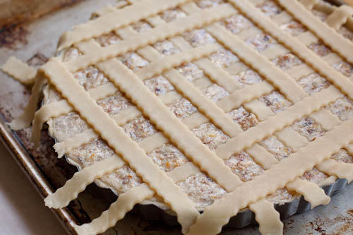 Blood Orange Marmalade Tart, lattice top