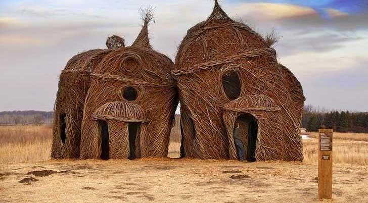 Esplendorosas esculturas creadas con  árboles
