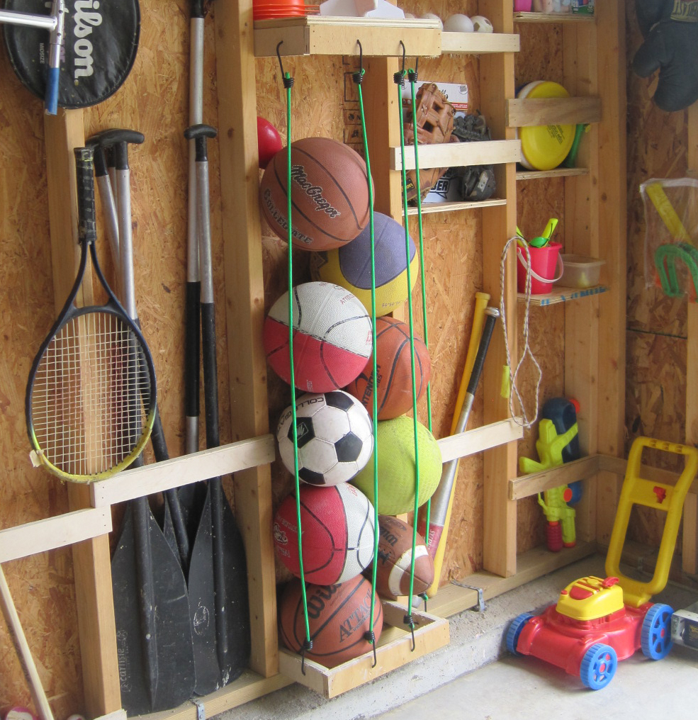 TLC Garage Works Ball Storage Idea