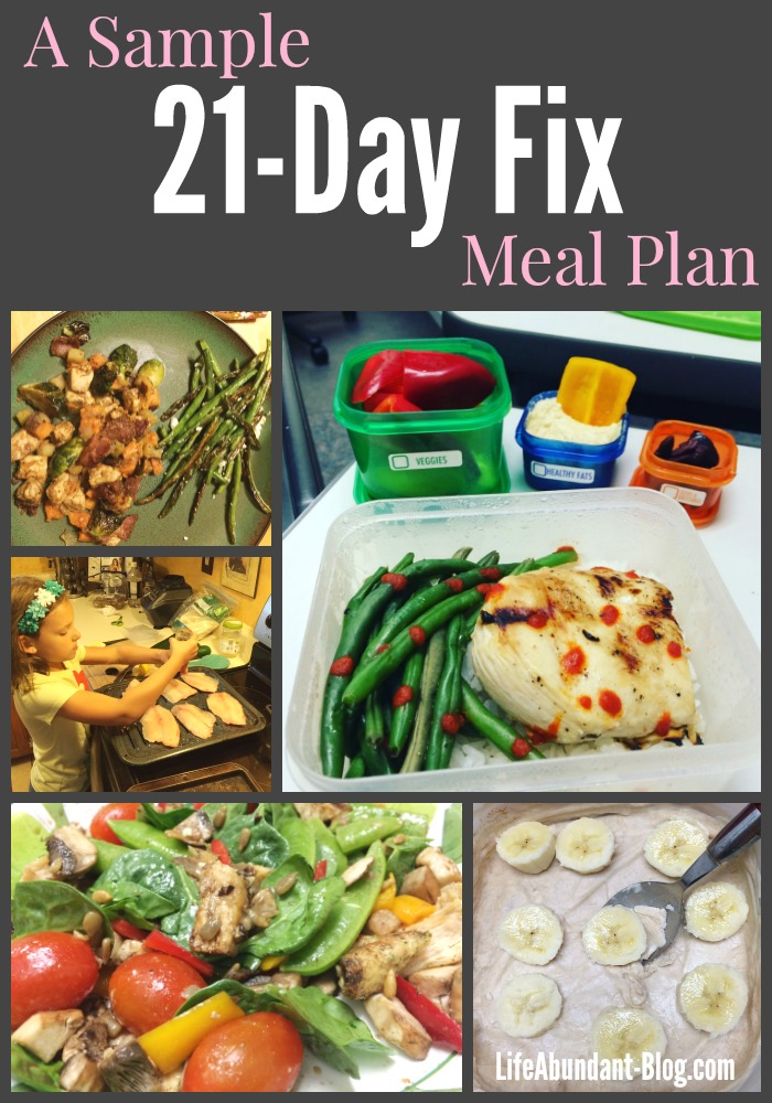 Sample 21-Day Fix Meal Plan