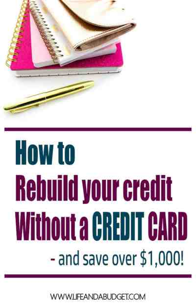 Self Lender: Rebuild Credit Without a Credit Card and Save! - Life and a Budget
