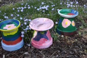 Homemade Bird baths