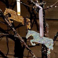 jumping horse Christmas decoration