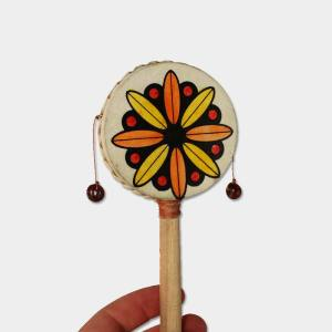 Small Rattle Drum - Flower