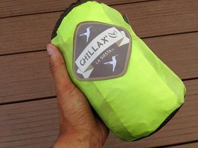 キャンプ用ハンモック【LA SIESTA CHILLAX ラ・シエスタ トラベルハンモック】はコンパクトで乾きやすいのでアクティブに使うのが最高です
