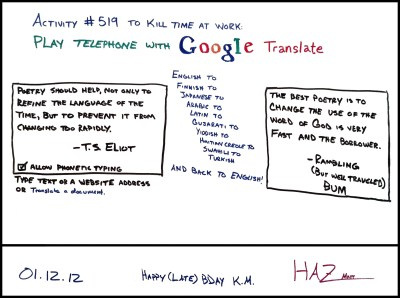 Fun with Google Translate | life in the cube