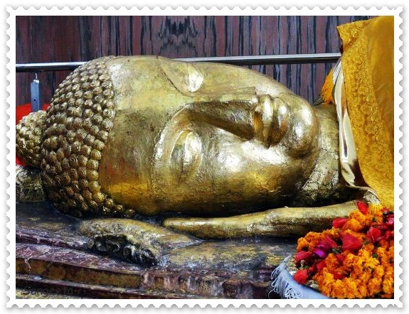 Lord Buddha lies in Eternal Sleep in Kushinagar