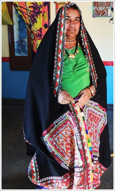 Rabari Embroidery Lady
