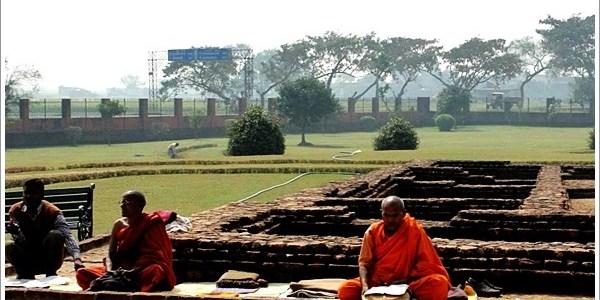 Footsteps of Little Buddha in Kapilvastu, India