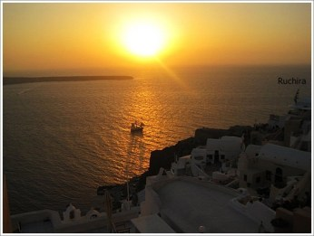 Santorini Oia Sun Set