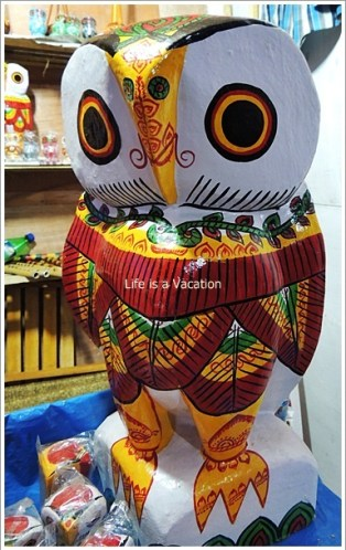 Wooden Owl from Burdwan, Bengal