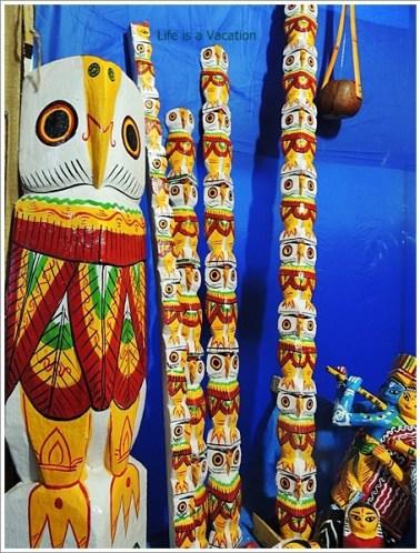 Wooden Owl from Burdwan ,Bengal