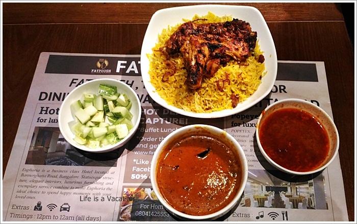 Fattoush Restaurant Bangalore Kabsa Dejaj