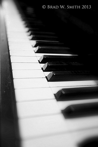 black and white keys of a piano