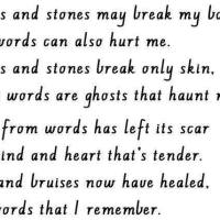When Words Hurt More than Broken Bones