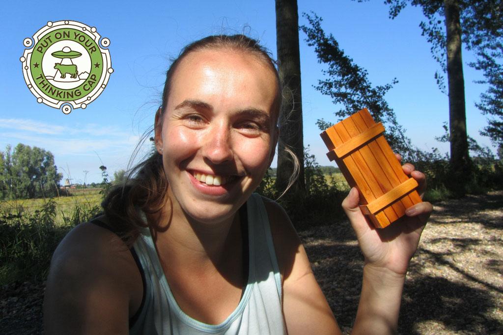 Geocaching15 Mystery 3 met badge