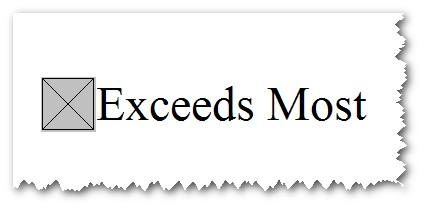 exceeds most
