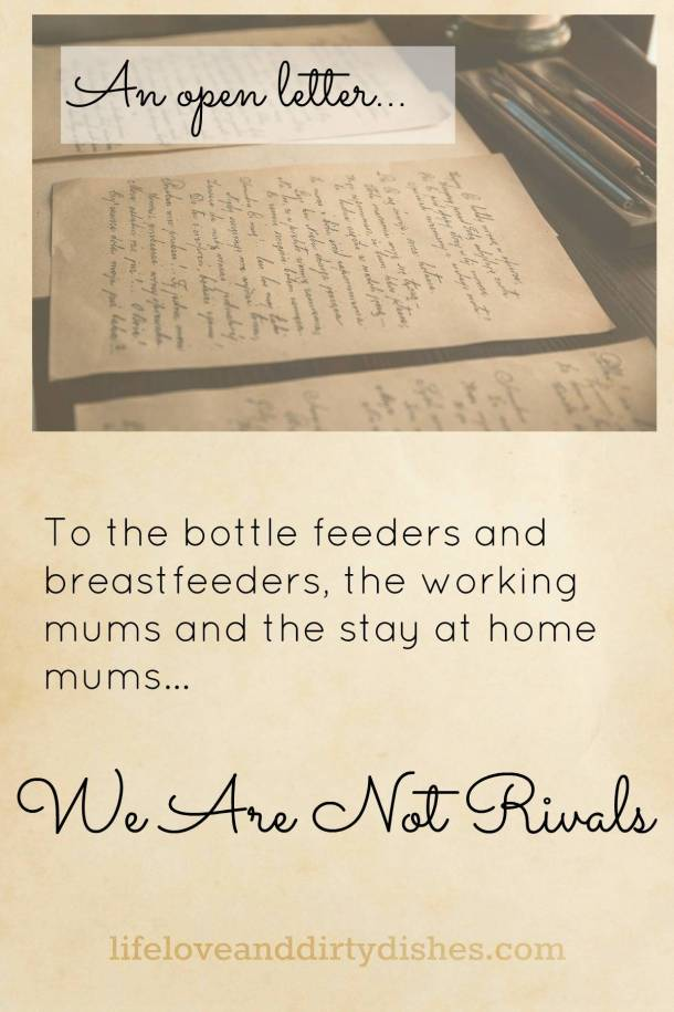 We Are Not Rivals: An open letter to mums