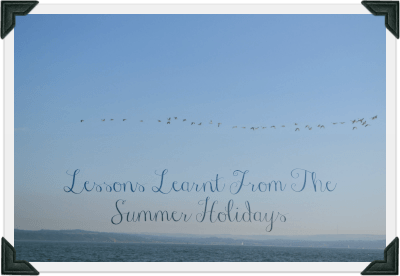 Lessons learnt during the summer holidays image