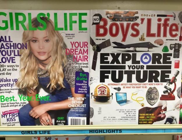 Boys vs Girls - gender roles