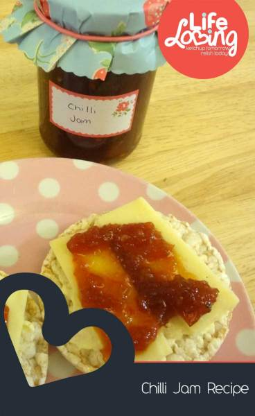 Chilli Jam Recipe on Life Loving Blog