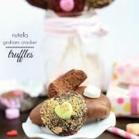 Nutella Heart Graham Cracker Truffles
