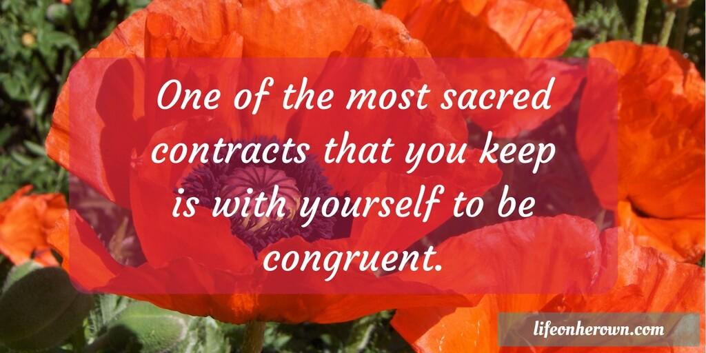 Congruency. Sacred Contract.